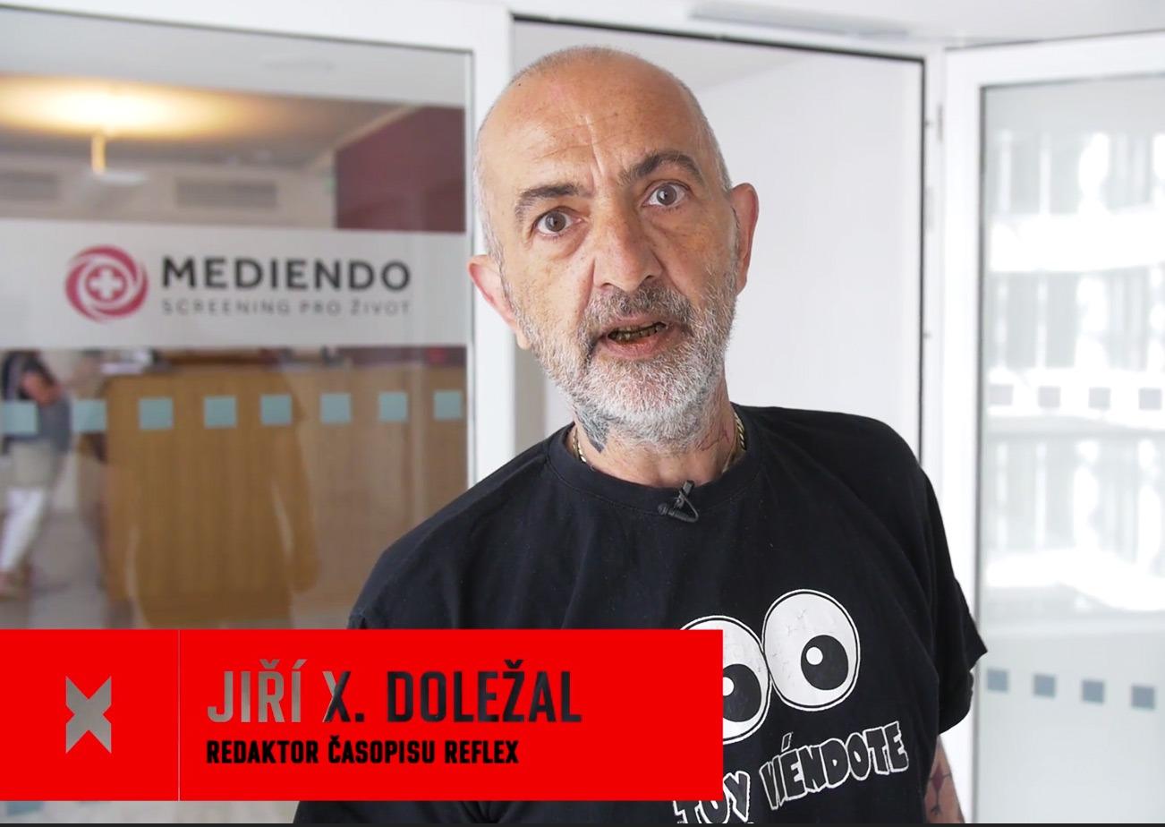 Jiří X. Doležal - kolonoskopie